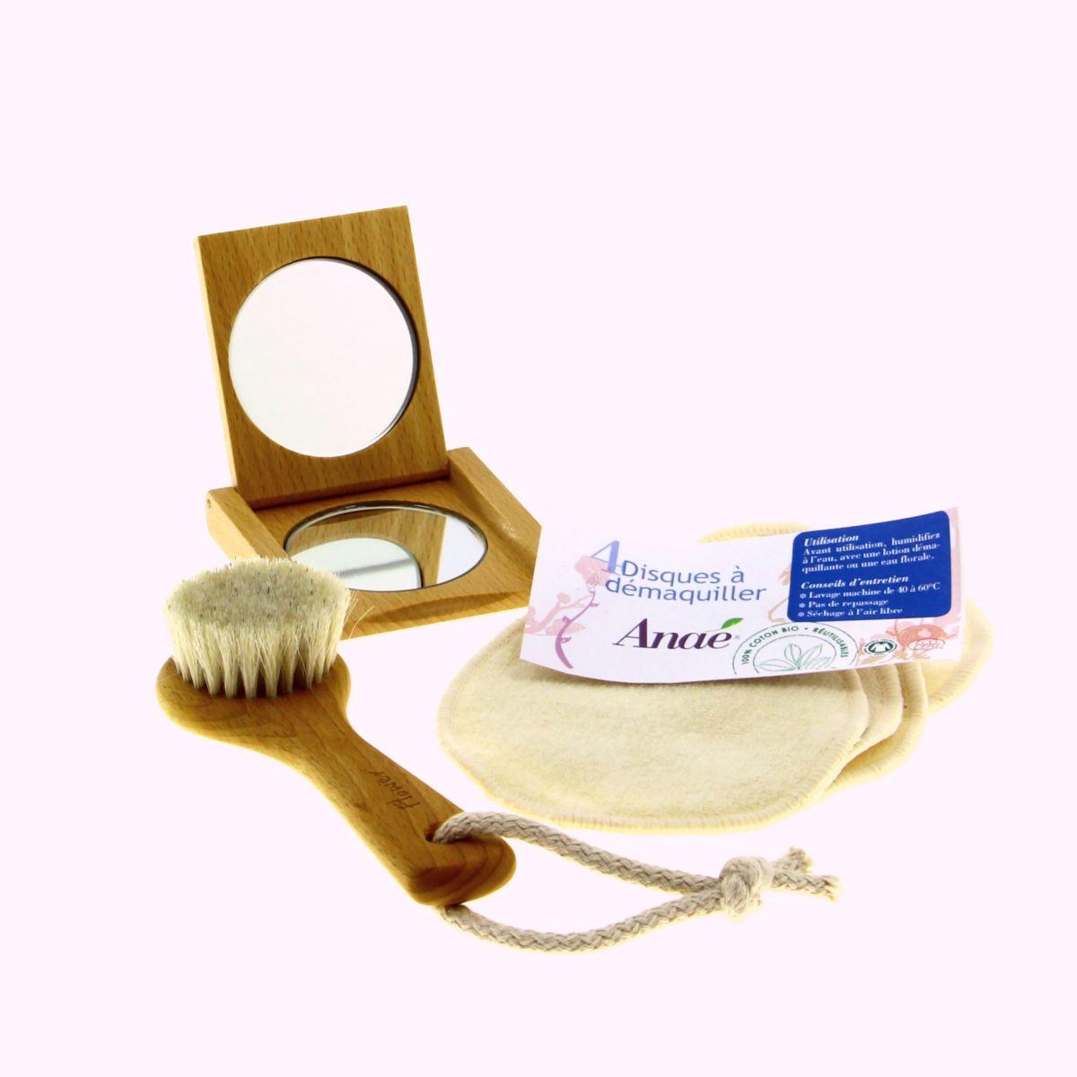 Coffret visage brosse disque d maquiller et miroir for Disque en miroir