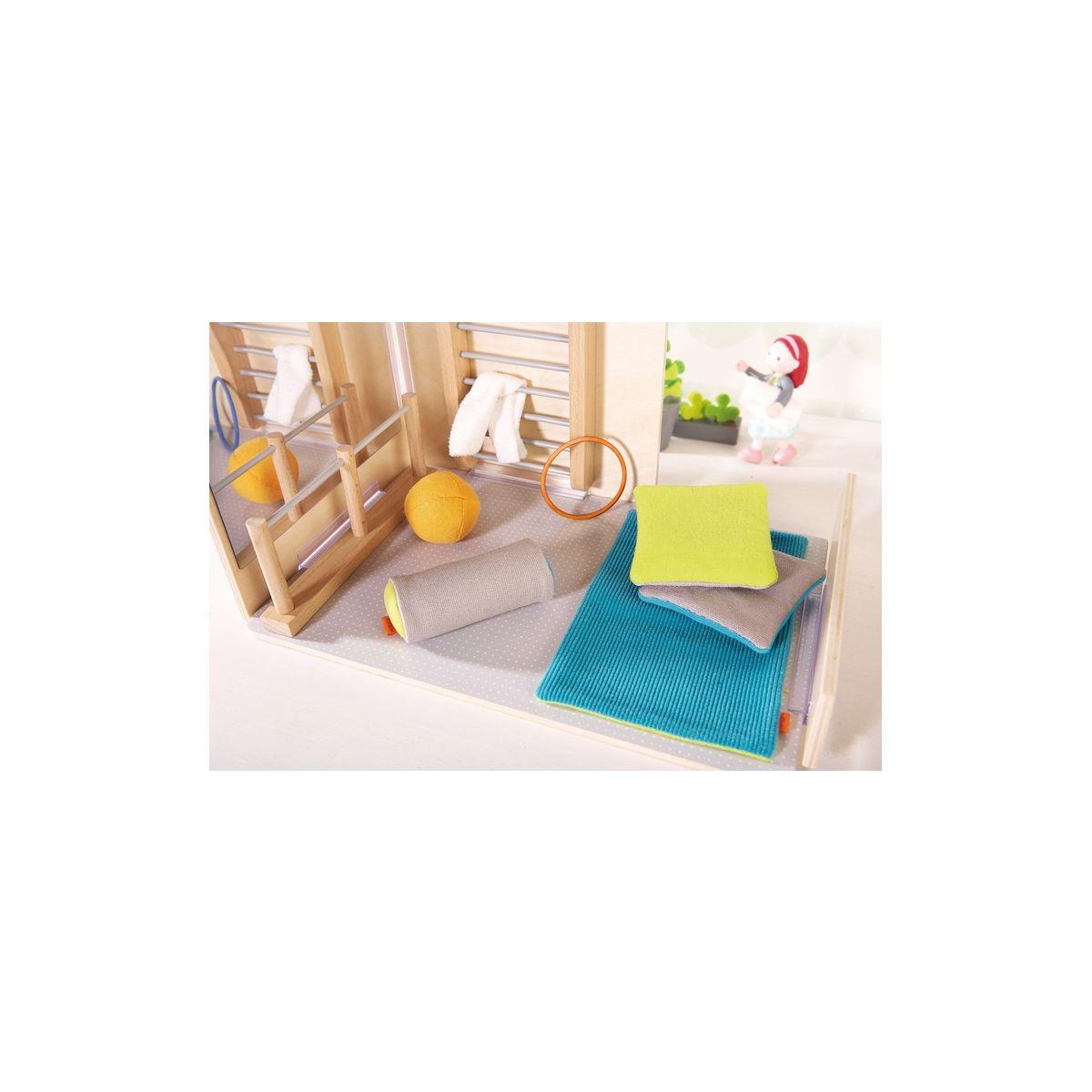 accessoires pour maison de poup e les plaisirs de la gymnastique little friends partir. Black Bedroom Furniture Sets. Home Design Ideas