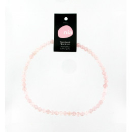 Collier perle 40 cm Quartz rose
