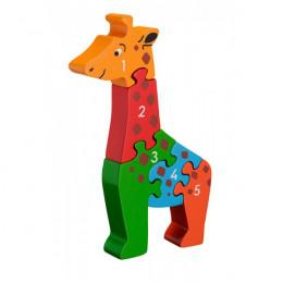 Puzzle en bois Girafe de 1 à 5 - à partir de 2 ans