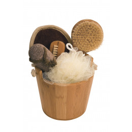 Baquet cadeau en bambou Soins du bain