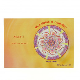 """Mandalas à colorier N° 2 """" Rêves de fleurs """" - à partir de 5 ans * **"""