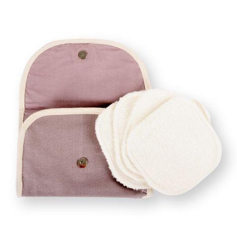 Kit Eco belle nomade 4 carrés démaquillants lavables Eucalyptus