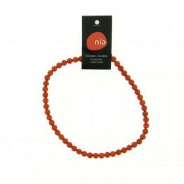 Collier perle 40 cm Cornaline