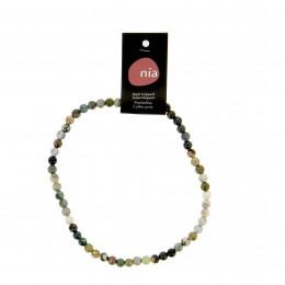 Collier perle 40 cm Leopard jaspe