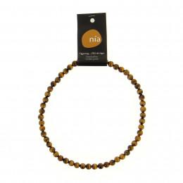 Collier perle 45 cm Oeil de Tigre