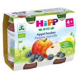 Pommes myrtilles Bio dès 4 mois 2 x 190 g