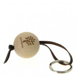 Porte-clés en bois FSC et cuir Sebio Chocolat