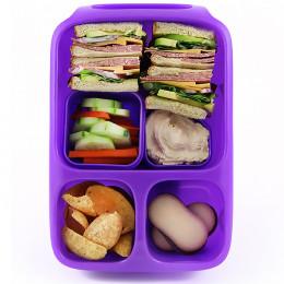 Boîte alimentaire avec poignée et compartiments