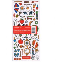 Autocollants pour personaliser ses récipients pour aliments Goodbyn ( Lettres, chiffres et motifs )