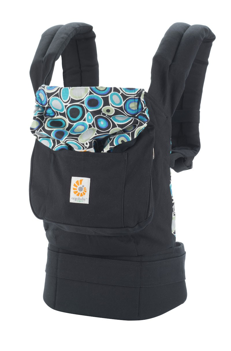 Porte-bébé ORGANIC - noir   rétro Quartz   b2b38c41b21