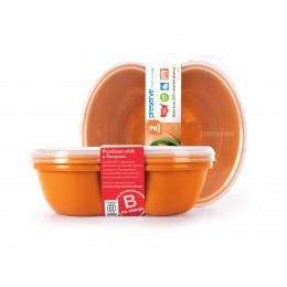 2 boîtes à sandwichs / tartines matériaux recyclés 740 ml