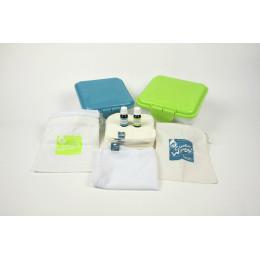 Kit TE1 lingettes lavables - assortiment d'essai - lavande/camomille