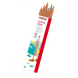 Crayons de couleur en bois - boite de 6