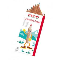 Crayons de couleur en bois - boite de 12