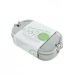 Boîte en inox ovale avec mini récipient - Kangra -  650 ml