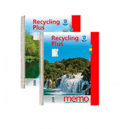 Cahier à spirales en papier recyclé format A4 quadrillé *