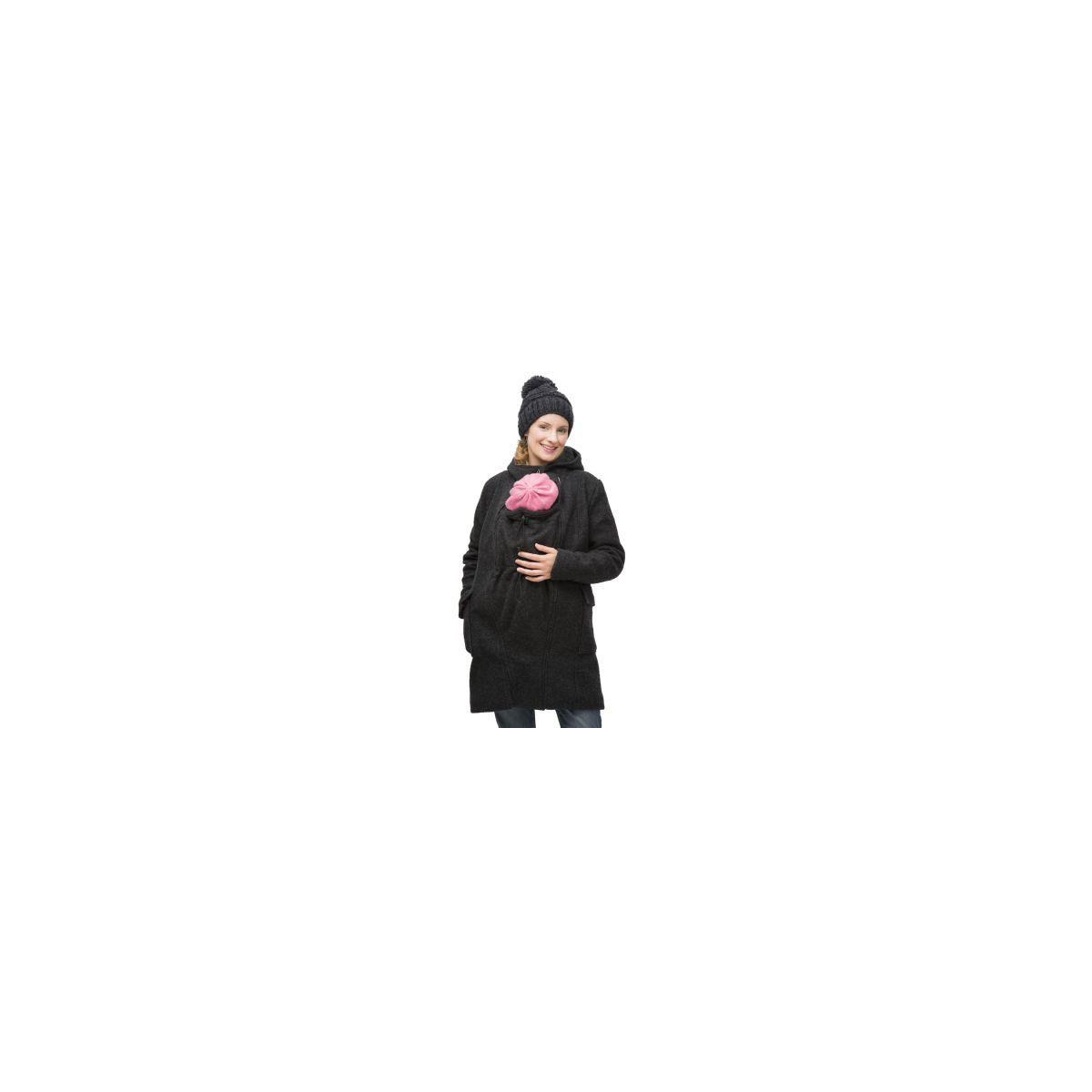 Manteau de grossesse et de portage en laine - Anthracite (Mamalila) f53692ee41a
