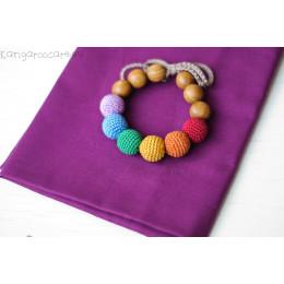 Bracelet de dentition - colori arc-en-ciel