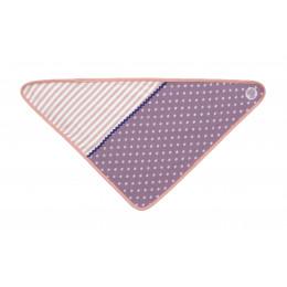 Bavoir bandana en coton BIO -  Purple Polka