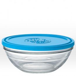Plat rond en verre avec couvercle - 23 cm - 240 cl