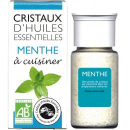 Cristaux d'huiles essentielles à cuisiner - menthe - 10 g