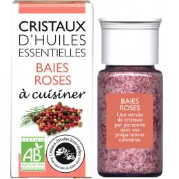 Cristaux d'huiles essentielles à cuisiner - baies roses - 18 g