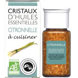 Cristaux d'huiles essentielles à cuisiner - citronnelle - 10 g