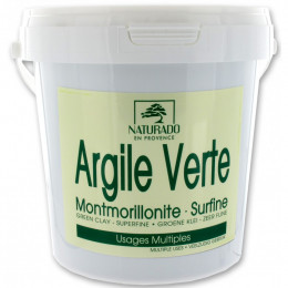 Argile verte Montmorillonite surfine - 1 kg