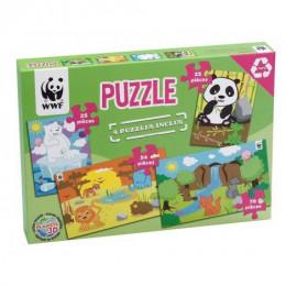 Puzzle Animaux Sauvages - à partir de 3 ans