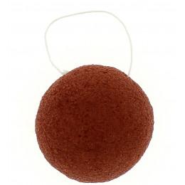 Eponge Konjac ronde - Argile rouge / peaux sèches