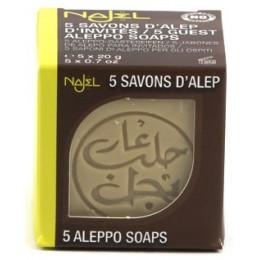 5 Savonnettes d'Alep d'invités