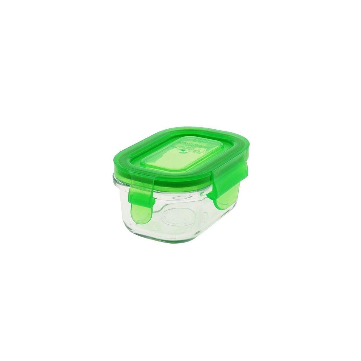 petit pot rectangulaire en verre tremp avec couvercle 150 ml sebio. Black Bedroom Furniture Sets. Home Design Ideas