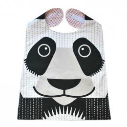 Grande serviette - bavoir - coton organique - motif panda*