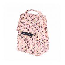 Lunch bag isotherme en coton BIO - motif coeurs
