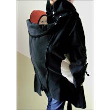 Veste tunique de maternité en laine - Noir / Paloma Grey #