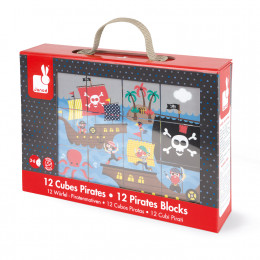 KubKid 12 cubes Pirates - A partir de 3 ans