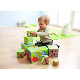 Cubes à empiler Petits bolides  - à partir de 1 an
