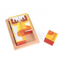 Barquette 6 cubes Forêt Zigolos - à partir de 1 an