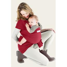 Echarpe porte-bébé basic - rouge carmin