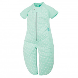 Pyjama transformable en sac de couchage - Léger Mint Cross TOG 1.0 / 2-12 mois