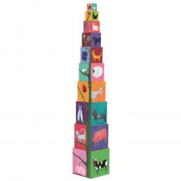 10 cubes animaux/chiffres - A partir de 1 an