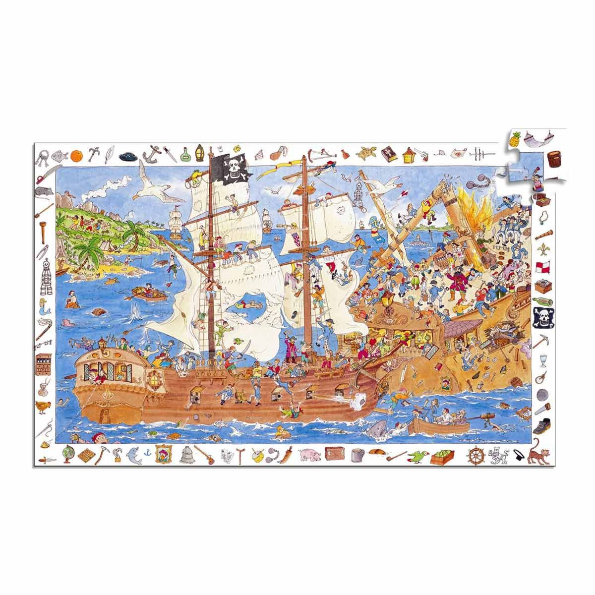 puzzle observation les pirates d s 5 ans sebio. Black Bedroom Furniture Sets. Home Design Ideas