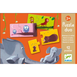 Puzzle duo maman et bébé - à partir de 2 ans