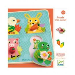Puzzle Croc-carrot - A partir de 1 an