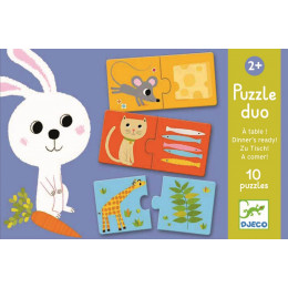 Puzzle duo A table ! - à partir de 2 ans