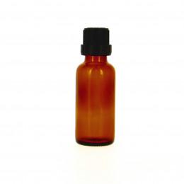 Flacon vide en verre 100 ml avec bouchon compte goutte