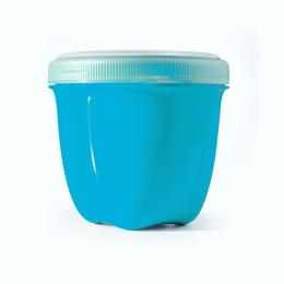 Boîte de conservation en matériaux 100 % recyclés Bleue
