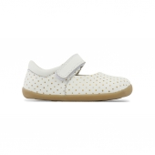 Chaussures Step Up - Mary Jane Blanc à pois dorés 727205