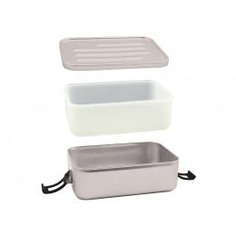 Boîte à repas en alu avec insert en silicone